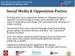 social media opposition parties