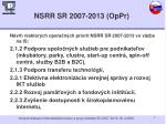 nsrr sr 2007 2013 oppr