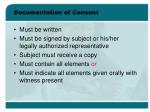 documentation of consent