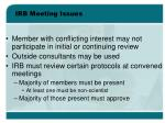 irb meeting issues