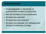 irb membership1
