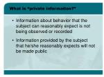 what is private information