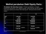melihat perubahan debt equity ratio1