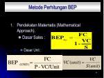 metode perhitungan bep