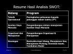 resume hasil analisis swot