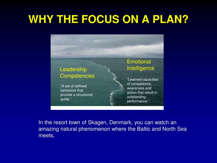 WHY THE FOCUS ON A PLAN?