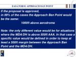 easa form approach ban point2