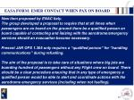 easa form emer contact when pax on board