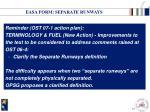easa form separate runways