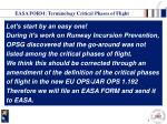 easa form terminology critical phases of flight
