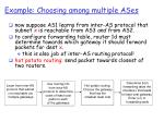 example choosing among multiple ases1