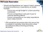 fm funds reservation