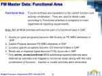 fm master data functional area