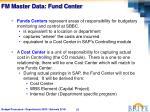 fm master data fund center