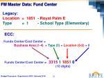 fm master data fund center2