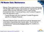 fm master data maintenance