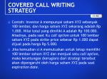 covered call writing strategy1