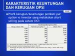 karakteristik keuntungan dan kerugian opsi6