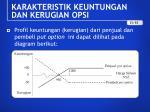 karakteristik keuntungan dan kerugian opsi9