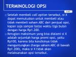 terminologi opsi2