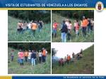 visita de estudiantes de venezuela a los ensayos