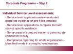 corporate programme step 2