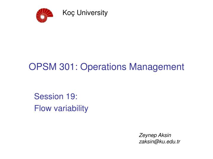 opsm 301 operations management n.