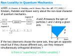 non locality in quantum mechanics