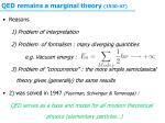 qed remains a marginal theory 1930 47