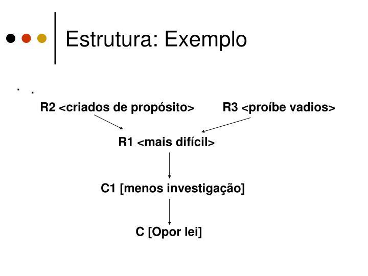 Estrutura: Exemplo
