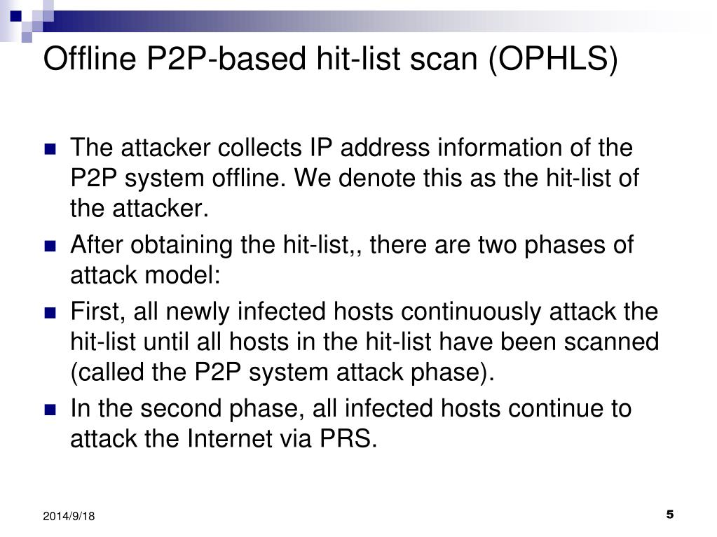 PPT - Peer-to-peer system-based active worm attacks
