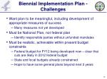 biennial implementation plan challenges