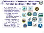 national oil hazardous substances pollution contingency plan ncp