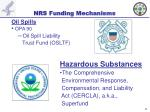 nrs funding mechanisms