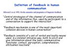 definition of feedback in human communcation