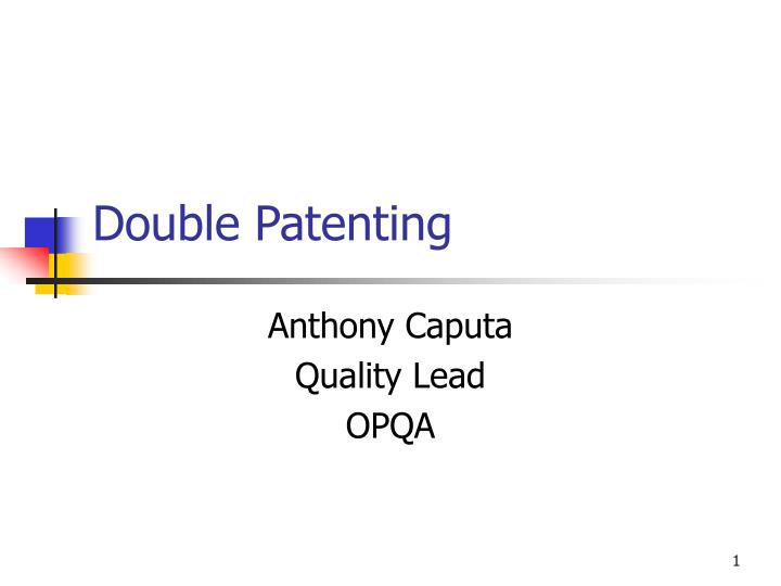 double patenting n.