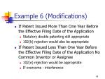 example 6 modifications