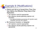 example 8 modifications
