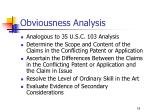 obviousness analysis