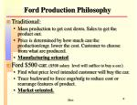 ford production philosophy