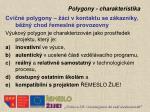 polygony charakteristika