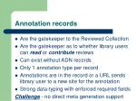 annotation records