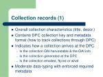 collection records 1