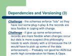 dependencies and versioning 3