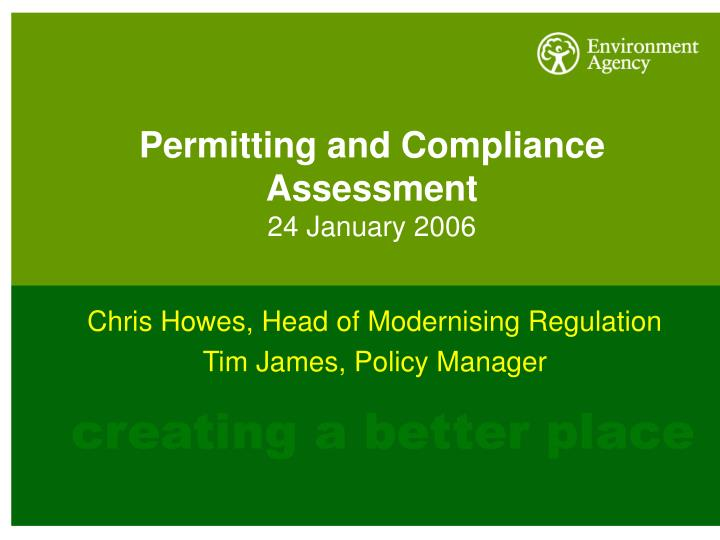 permitting and compliance assessment 24 january 2006 n.