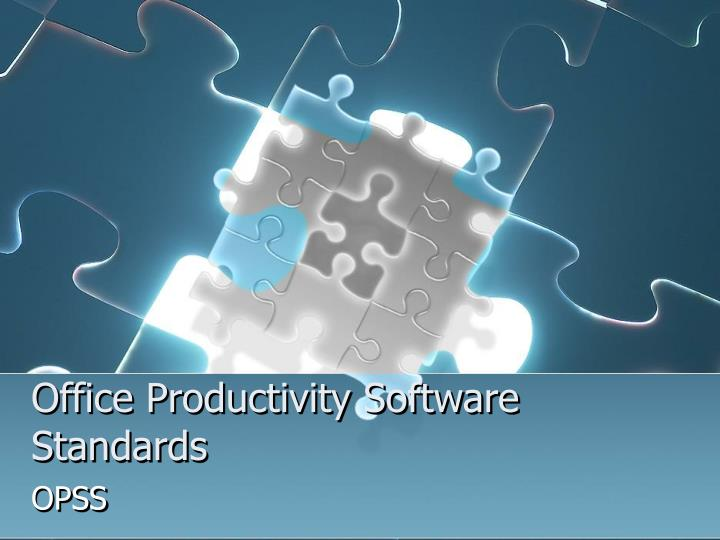 office productivity software standards n.