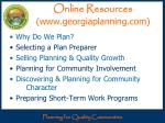 online resources www georgiaplanning com