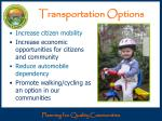 transportation options