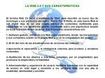 la web 2 0 y sus caracteristicas