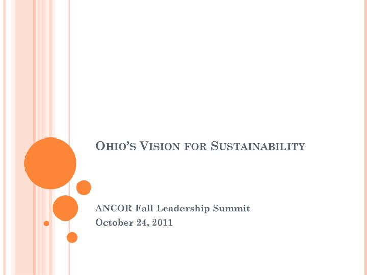 ohio s vision for sustainability n.